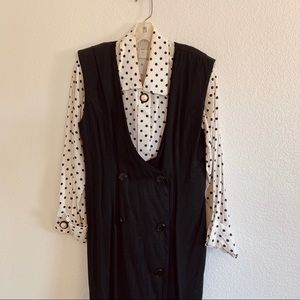 90's Polka Dot Jumper Dress Set